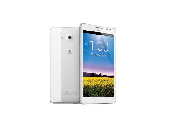 Weißer Riese: Mit seinem 6,1 Zoll großen Display ist das Huawei Mate aktuell wohl das größte Smartphone.