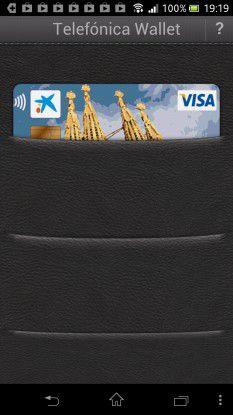 ... und bezahlen dann mit der Kreditkarte aus der elektronischen Handy-Geldbörse.