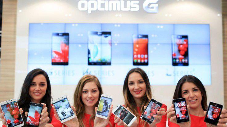 Die neuen Smartphones von LG.
