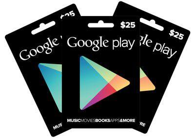 Demnächst auch in Europa? Geschenkgutscheine für Google Play.