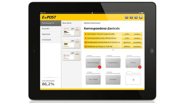 Das digitale Büro, wie es die Deutsche Post nennt, ist nun auch auf iOS- und ab Sommer auf Android-Geräten verfügbar.