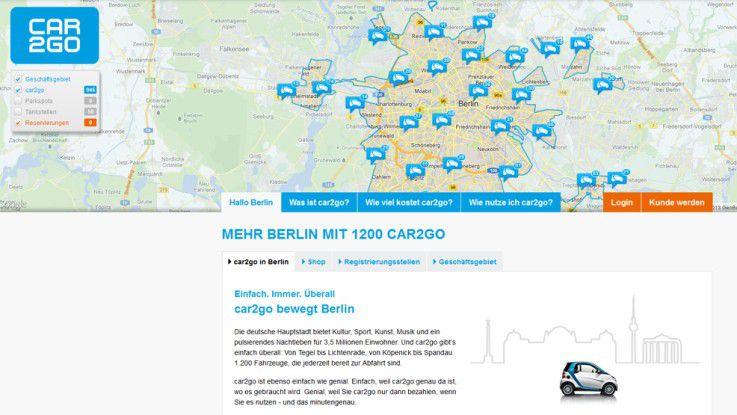 Car2go bietet Entwickler-Interfaces, mit deren Hilfe die Anwendung beliebig erweitert werden kann.