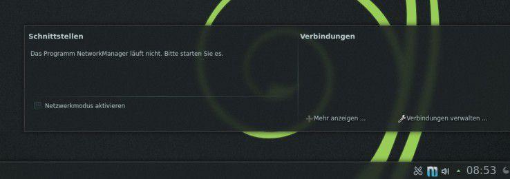 Bei manchen Installationen patzt openSUSE bei der Netzwerkkonfiguration.