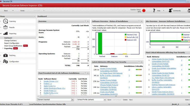 """Der """"Corporate Security Inspector"""" von Secunia hilft Unternehmen beim intelligenten Patch-Management."""