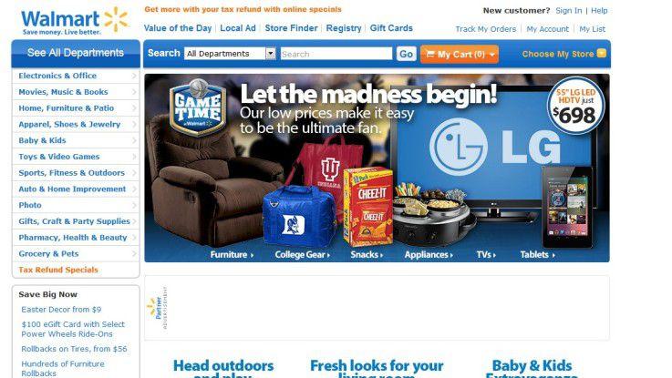 Save money, save design: Walmart war bisher nicht gerade berühmt für seinen Online-Auftritt.