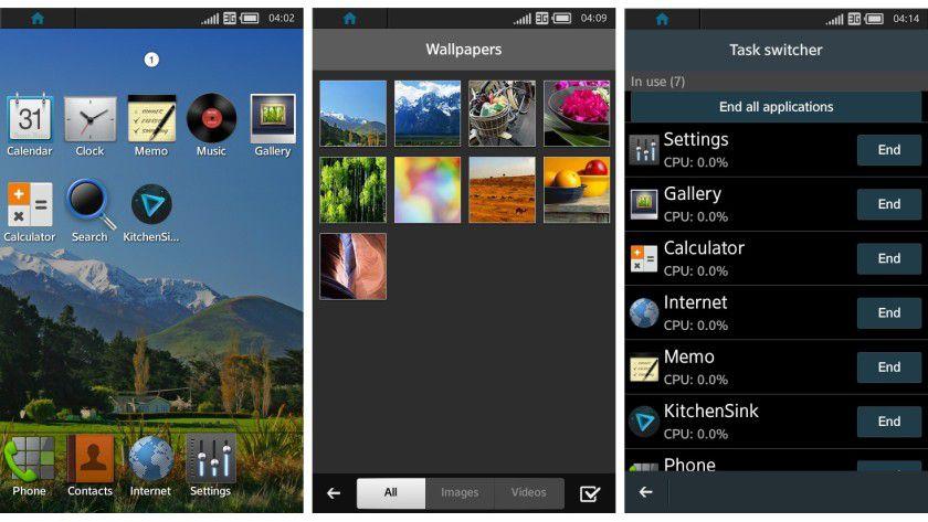 So sieht die Benutzeroberfläche des Samsung-Betriebssystems Tizen aus.