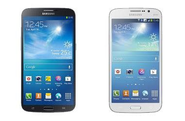 Samsung Galaxy Mega 6.3 (links) und Samsung Galaxy Mega 5.8