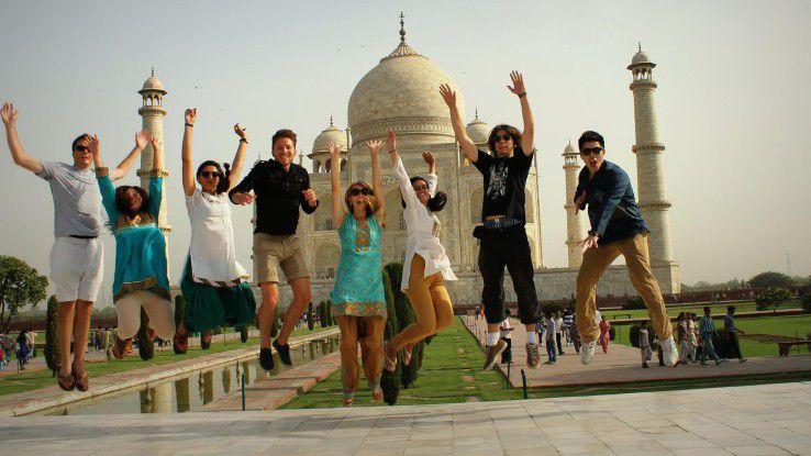 Tourismusattraktionen wie das Taj Mahal stehen auch für die Praktikanten auf dem Programm.