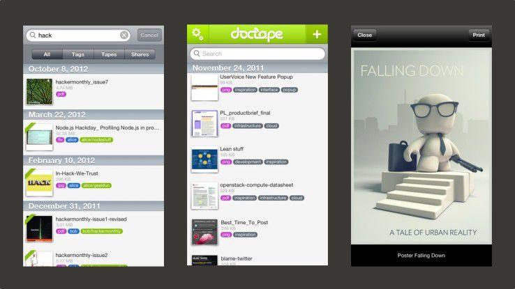 Mit der mobilen App für iPhone und iPad können Anwender auf ihre Dokumente jederzeit und von überall zugreifen.
