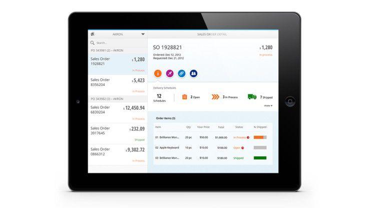 Fiori wurde in einem Responsive Design entworfen, so dass sich die App an die jeweilige Nutzeroberfläche anpasst.