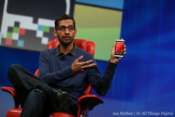 Googles neue Android-Chef Sundar Pichai auf der Konferenz D11