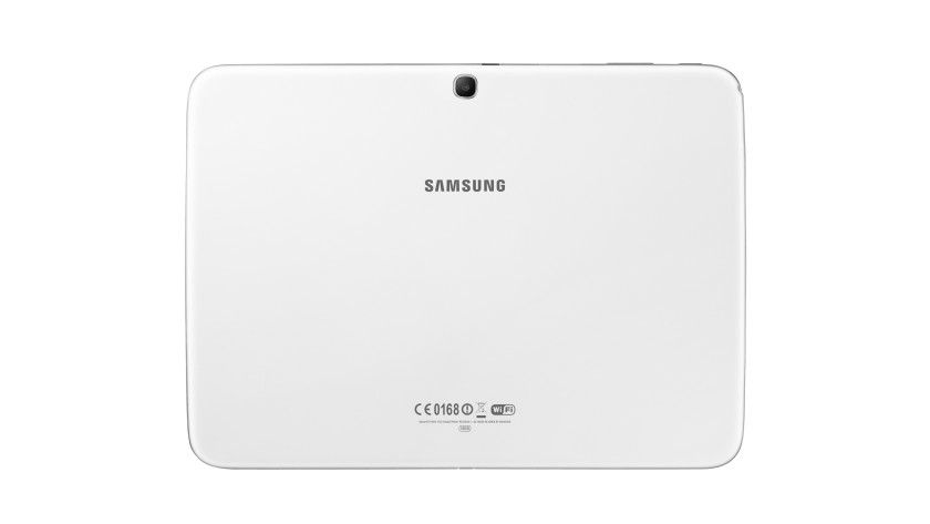 Wie immer Kunststoff: Das Gehäuse des Samsung Galaxy Tab 3 10.1 bleibt fast unverändert.