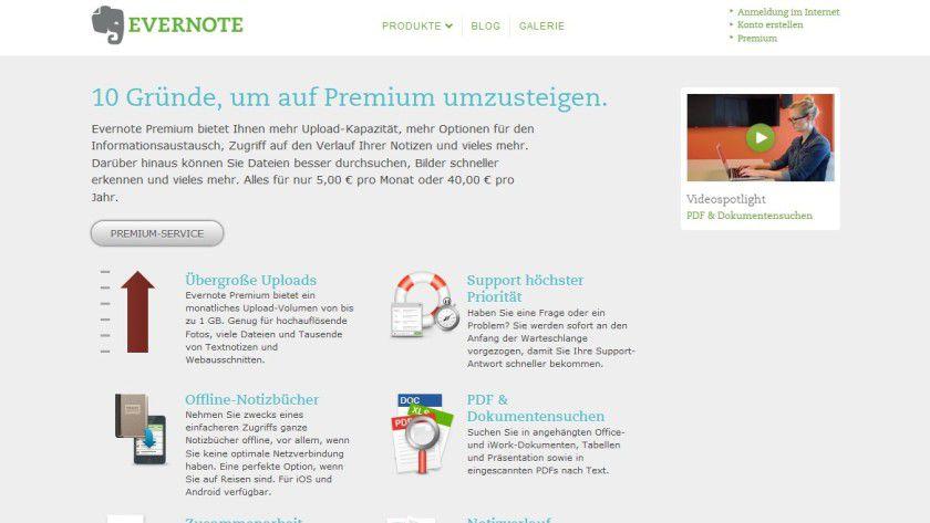 Wir verlosen fünf Premium-Accounts für den Online-Notizdienst Evernote.