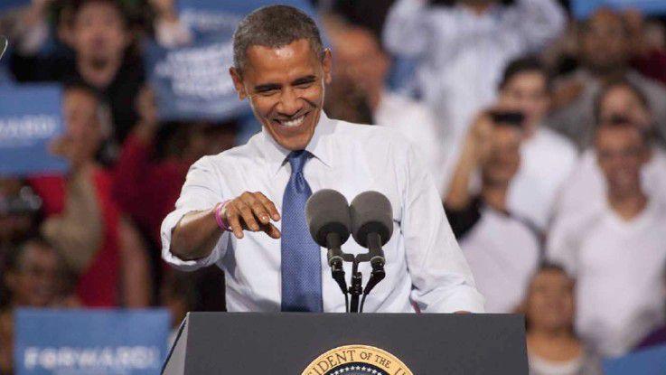 Barack Obama hat meistens seine eigene, sichere Mobilfunk-Basisstation für sich ganz allein.