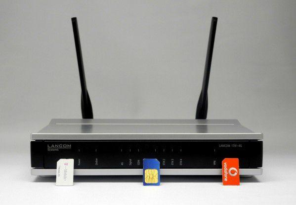 """Der Business-Router """"LANCOM 1781-4G"""" beherrscht LTE bei 800, 1800 und 2600 MHz."""