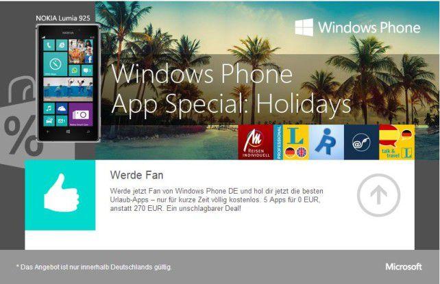 Microsoft lockt mit Windows-Phone-Apps im Wert von 270 Euro