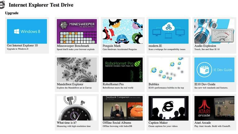 Microsoft IE 10 Test Drive