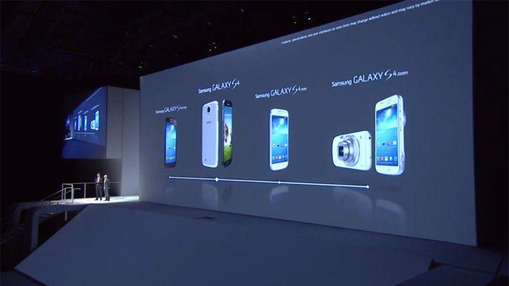 Präsentation neuer Geräte auf der Samsung Premiere 2013.