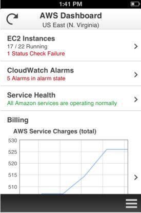 Mit der kostenlosen AWS Console für iOS und Android lassen sich IT-Ressourcen in der Amazon-Cloud von Mobilgeräten aus verwalten.