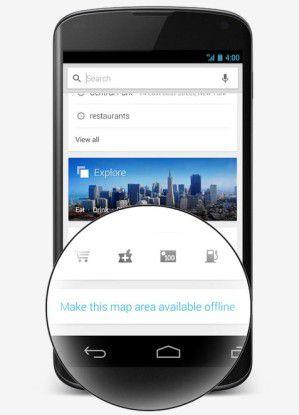 Offline-Karten in Google Maps