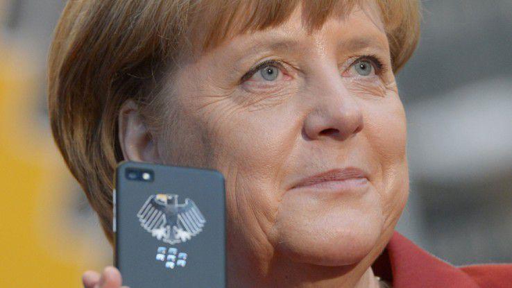 Der wohl prominenteste deutsche Referenzkunde: Auch beim Merkel-Phone von Secusmart kommen Blackberry 10 und BES10 zum Einsatz.