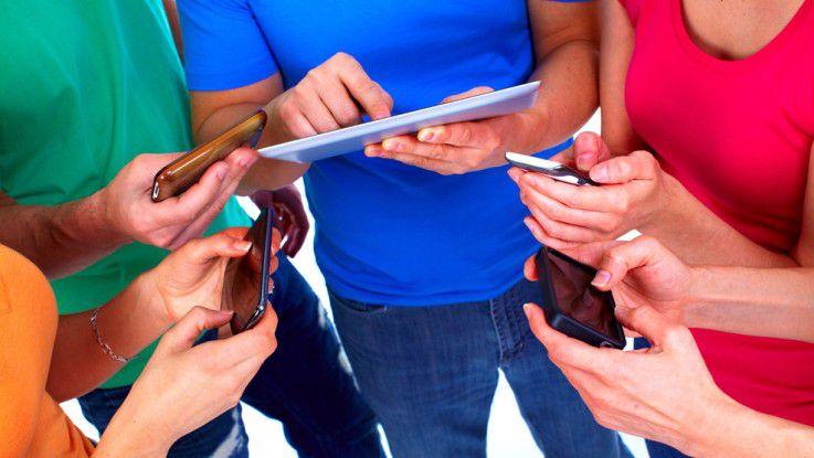 Generation Y - wenn es um die eigenen Tablets, Smartphones und Cloudspeicher geht, hört der Spaß auf.