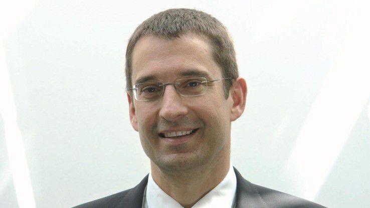 Die Mitarbeiter kennen ihren Chef auch verschwitzt im Sportoutfit: Trudbert Vetter, Vorstand der DV-Ratio.