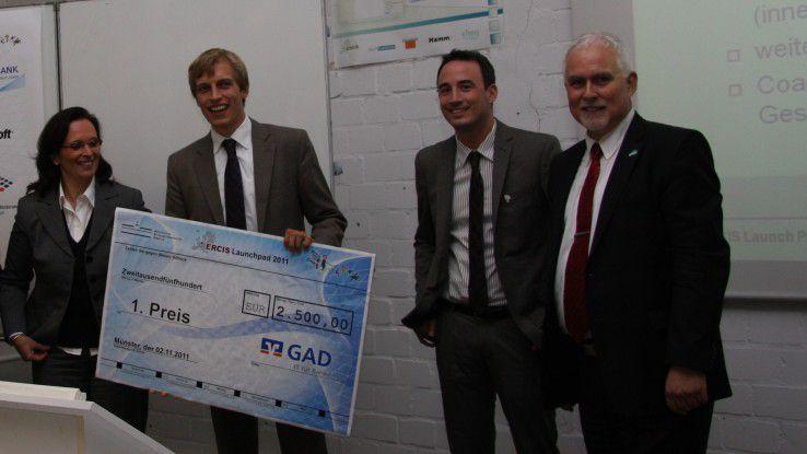 Vor zwei Jahren gewann Till Achinger (zweiter von links) den mit 2000 Euro dotierten Gründerpreis Launch Pad.