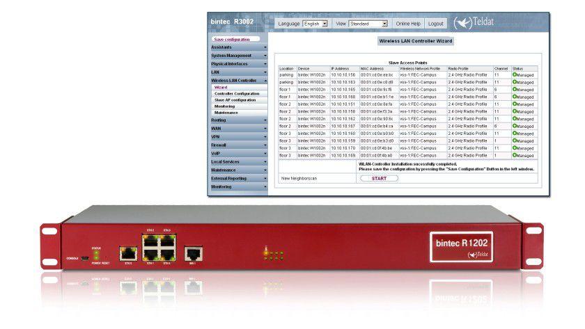 Klassisch: Teldat setzt noch auf physikalische WLAN-Controller vor Ort.