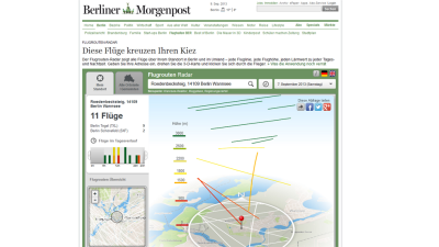 Big Data 2013 - Berliner Morgenpost: Berliner Morgenpost macht Flugrouten transparent