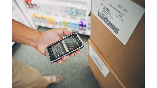 Ein äußerst ungewöhnliches Smartphone-Equipment: Der Scanner des Motorola TC55