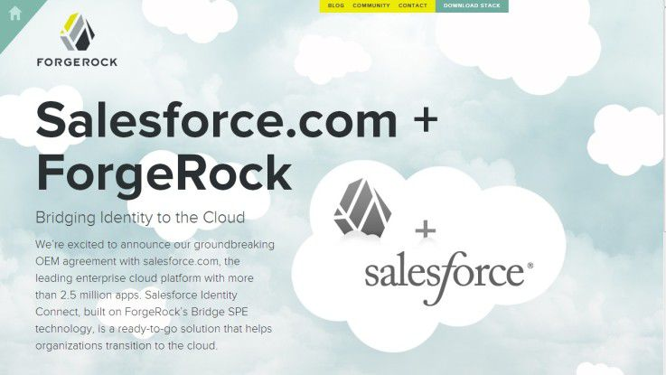 Mit ihrer Partnerschaft wollen Salesforce und ForgeRock Unternehmen auch den Gang in die Cloud einfacher machen.