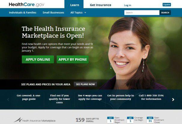 """Die Website Healthcare.gov """"funktioniert nicht, wie sie soll"""""""