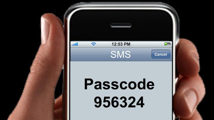 Via Smartphone werden tokenlos Passcodes übertragen.