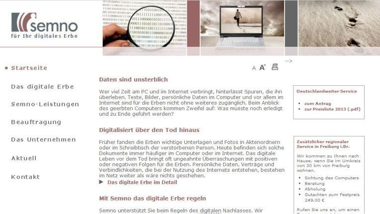 Semno gibt Hinterbliebenen die Möglichkeit, den digitalen Nachlass Verstorbener prüfen zu lassen.