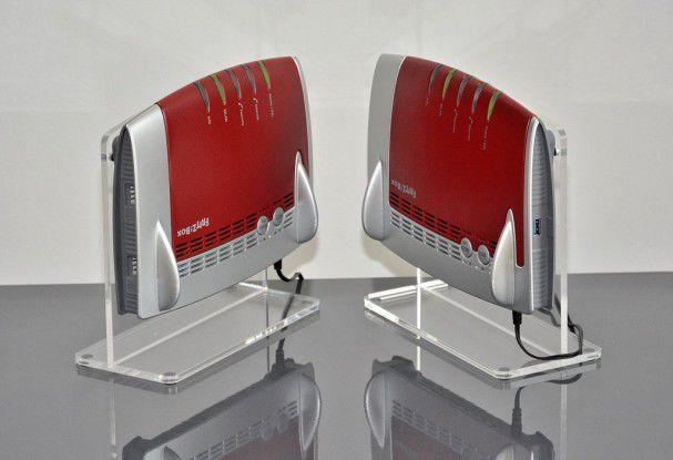 Mit sich selber schafften zwei AC-Fritzboxen AVM 7490 im Test die volle 3x3-MIMO-Verbindung von 1,3 GBit/s brutto.