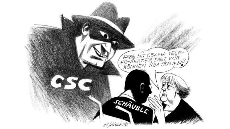 """Cartoon klein 48/2013 678 - """"Grenzenloses Vertrauen"""""""
