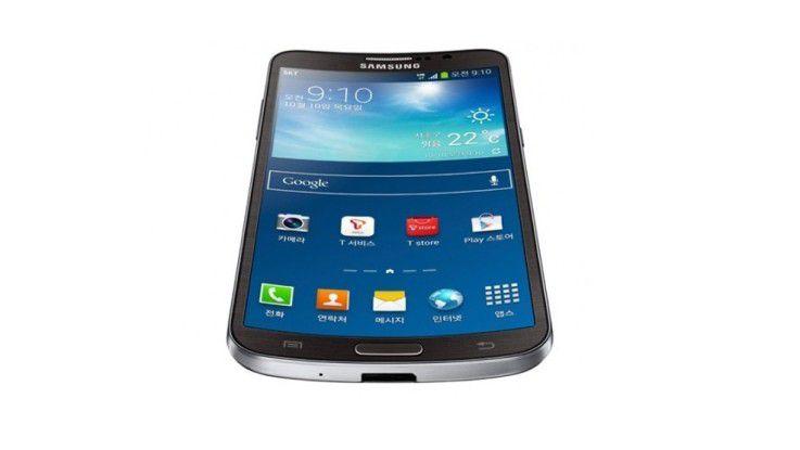 """Das gebogende Display gibt dem Samsung Galaxy Round seine Form und wird auch für den """"Roll-Effekt"""" verwendet."""