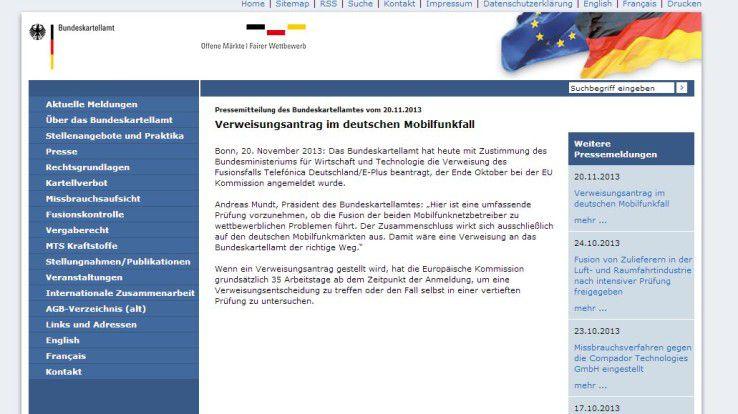 E-Plus-Übernahme: Das Bundeskartellamt fühlt sich zuständig anstatt der EU-Kommission.