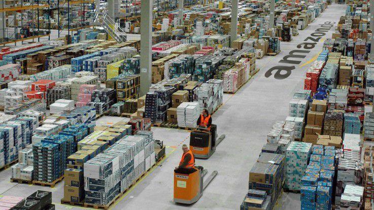 Auch das Amazon-Verteilzentrum Leipzig ist wieder von Streiks betroffen.