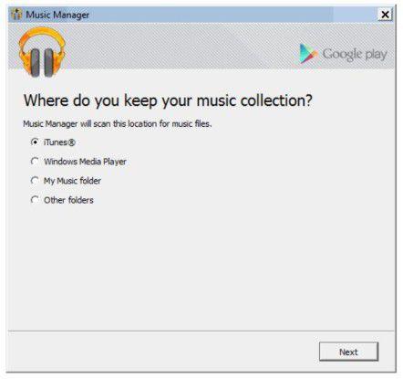 Mit dem Music Manager lässt sich die iTunes-Musik in die Android-Welt transferieren.