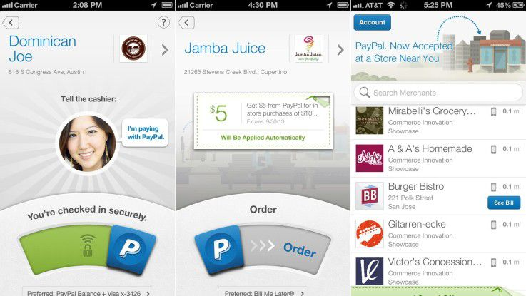 Bezahlen per Gesichtserkennung: Paypal Check-in soll das Unterwegs-Einkaufen mit dem Smartphone erleichtern.