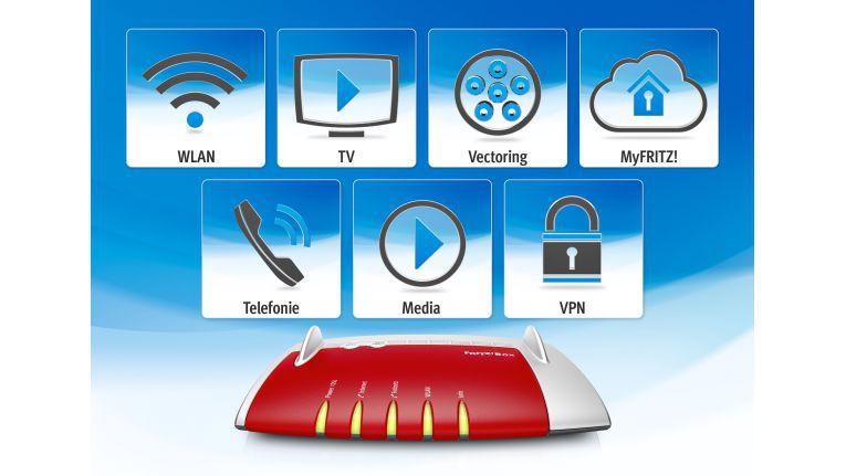 FritzOS 6.0 bringt etliche Neuerungen. Dazu gehören der bequeme Weg zum privaten WLAN-Hotspot, Live TV, VDSL Vectoring, Kindersicherung und Smarthome, SIP-Trunking für jede Menge IP-Telefonanschlüsse, Media Server in der Cloud und vereinfachte Einrichtung von VPN-Verbindungen.
