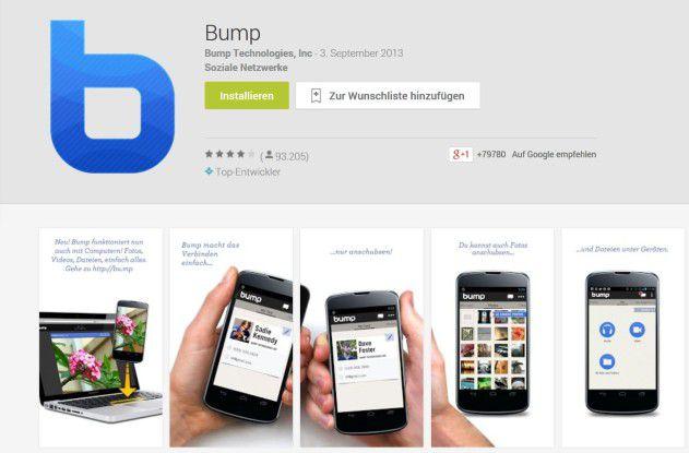 Ende Januar wird Google die App Bump vom Netz nehmen.