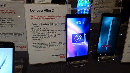 Das auf der CES 2014 vorgestellt Lenovo Vibe Z.