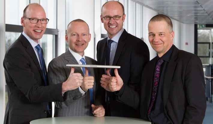 Die vier Geschäftsführer von MaibornWolff (von li.): Jens Rieger, Holger Wolff, Alexander Hofmann, Volker Maiborn.