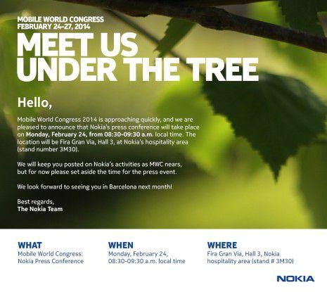 """Spätestens am 24.2. wissen wir, was Nokia zum """"Treffen unter dem Baum"""" mitgebracht hat."""