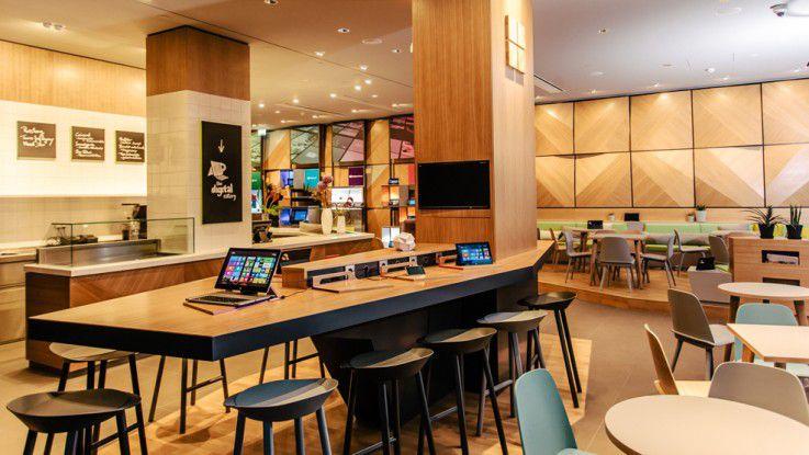 "Die ""Digital Eatery"" in Microsofts Hauptstadtrepräsentanz"