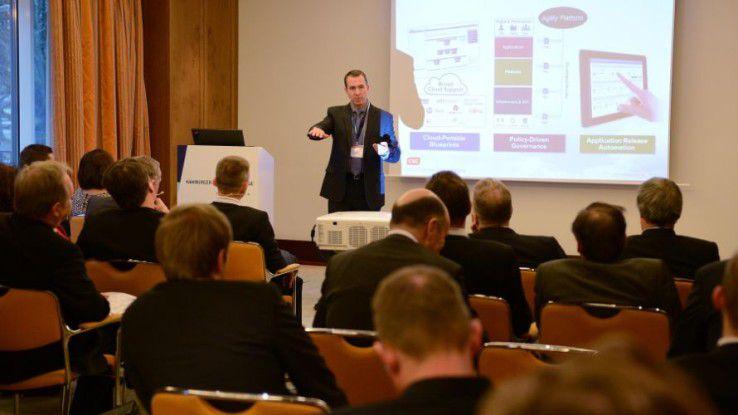 CSC-Manager Jim Houghton auf den Hamburger IT-Strategietagen 2014.