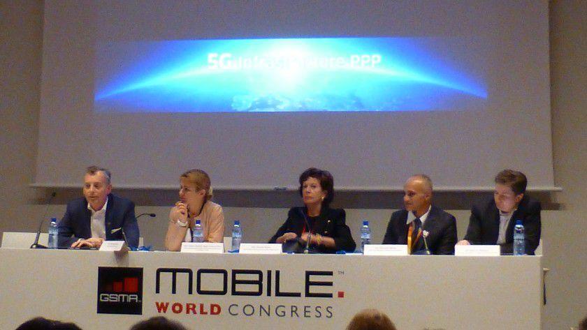 Informativ: 5G-Pressekonferenz auf dem Mobile World Congress.